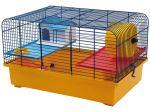 Klec SMALL ANIMAL CH1 modrá + žlutá 49x32,5x29cm