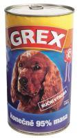 GREX konzerva pes masová směs 1280g