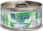 DOG NATURAL kuřecí maso se zeleninou pro psy 95g Monge