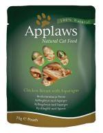 Applaws kapsička Cat kuřecí prsa a chřest 70g