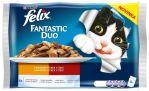 Felix cat kapsička Fantastic DUO Multipack masový výběr 4x100g