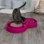 Hračka pro kočky, dráha s kuličkou a škrabacím polem 60x33cm