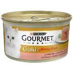 Gourmet Gold Melting heart paštika s omáčkou uvnitř, losos 85g