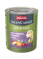 GRANCARNO Superfoods jehněčí,amarant,brusinky,los.olej 800 g pro psy