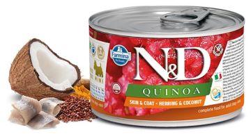 N&D DOG QUINOA Adult Herring & Coconut Mini 140g