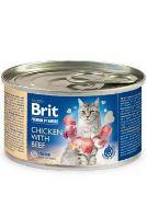 Brit Premium Cat by Nature konzerva Chicken&Beef 200g