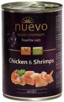 Nuevo kočka adult Kuře a krevety konzerva 400g