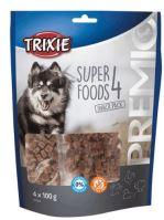 PREMIO 4 Superfoods - výživné pamlsky kuřecí, kachní, hovězí, jehněčí 4x100g