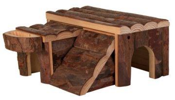 Dřevěný domek LUKA pro křečka 14x7x14cm, Trixie