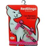 Postroj RD s vodítkem - kočka- Stars Lime/ Hot Pink