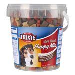 Soft Snack Happy MIX - kuře, jehně, losos, kyblík 500g Trixie