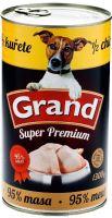 GRAND konzerva pes Extra s 1/2 kuřete 1300g