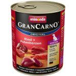 Konzerva ANIMONDA Gran Carno Senior hovězí + krůtí srdce 800g