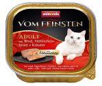 Paštika ANIMONDA Vom Feinsten CORE hovězí, kuřecí prsa + bylinky pro kočky 100g