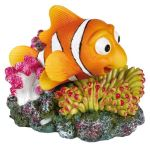 Korál s barevnou rybou 12x10cm