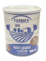 FARMKA DOG s lososem 800g