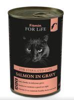 Fitmin For Life Lososová konzerva pro kastrované kočky 415g