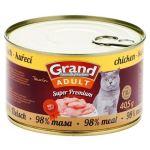 GRAND konzerva Superpremium kočka kuřecí 405g