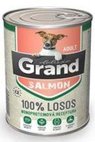 GRAND konzerva pes deluxe 100% losos adult 400g