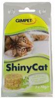 Gimpet Shiny cat konzerva - tuňak, kočičí tráva 2x70g