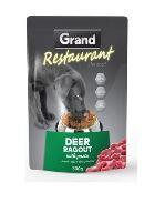 GRAND kapsička deluxe pes Restaurant 100% jelení ragú 300g