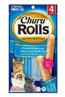 Churu Cat Rolls Chicken wraps&Tuna+Scallop cr. 4x10g