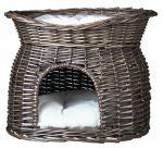 Trixie proutěná bouda s odpočívadlem šedá 54x43x37cm