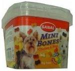SANAL Mini Bones - poloměkké mini kostičky kuře,hovězí 100g