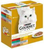 Gourmet Gold cat konzerva grilované kousky Mix Multipack 8x85g