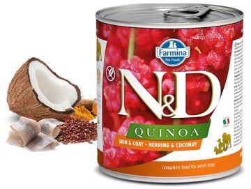N&D DOG QUINOA Adult Herring & Coconut 285g