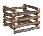 Natural Living - dřevěný přírodní stojan na seno 15x11x15cm