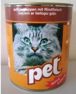PET KATZE kostky s hovězím masem pro kočky
