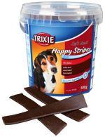 Soft Snack Happy Stripes - hovězí pásky, kyblík 500g Trixie