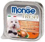 MONGE FRESH - paštika a kousky s krůtou 100g pro psy