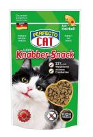 Perfecto Cat Lucky Knabber Snack s Jehněčím a brusinkami - Anti-Hairball 50g