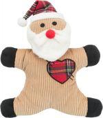 Vánoční Santa/sněhulák manšestr, se zvukem, 29cm