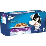 FELIX Fantastic hovězí/kuře/losos/tuňák 44x100g