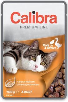 Calibra Cat kapsa Premium Adult Duck & Chicken 100g