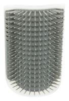Masážní kartáč k upevnění na roh 8x13cm šedý