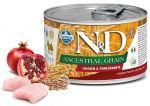 N&D DOG Low Grain Adult Chicken & Pomegranate Mini 140g - 1 + 1 ZDARMA