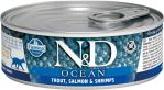 N&D CAT OCEAN Adult Tuna & Salmon 80g - 1 + 1 ZDARMA