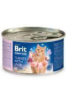 Brit Premium Cat by Nature konzerva Turkey&Liver 200g