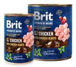 Brit Premium Dog by Nature konzerva Chicken & Hearts 400g