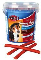 Soft Snack Happy Rolls - tyčinky s lososem, kyblík 500g Trixie