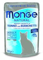 MONGE NATURAL kapsička tuňák v želé se sleděm pro kočky 80 g