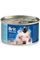 Brit Premium Cat by Nature konzerva Trout&Liver 200g