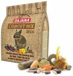 Dajana COUNTRY MIX, Degu 500g, krmivo pro osmáky degu
