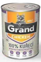 GRAND konzerva kočka deluxe 100% drůbeží 400g
