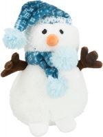 Vánoční sněhulák s čepičkou, zvuk, 20cm
