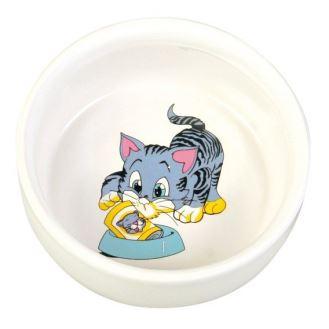 Porcelánová malovaná miska pro koťata, Trixie